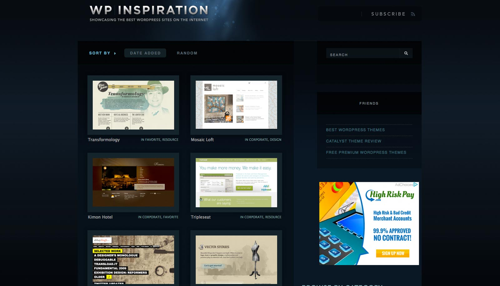 Wordpress design inspiration