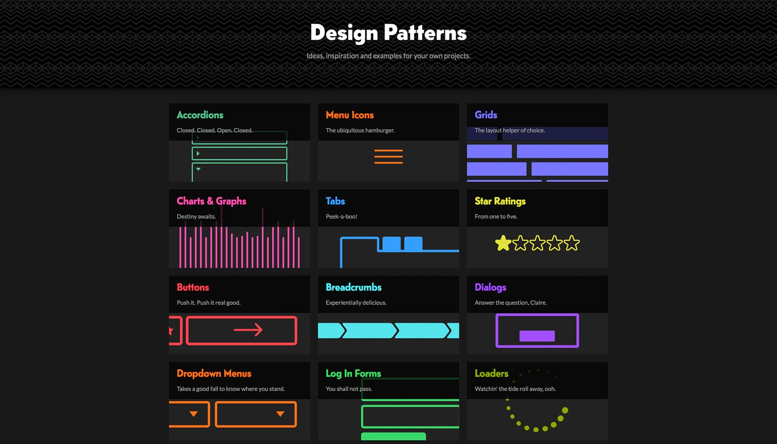 codepen patterns inspiration UI UX