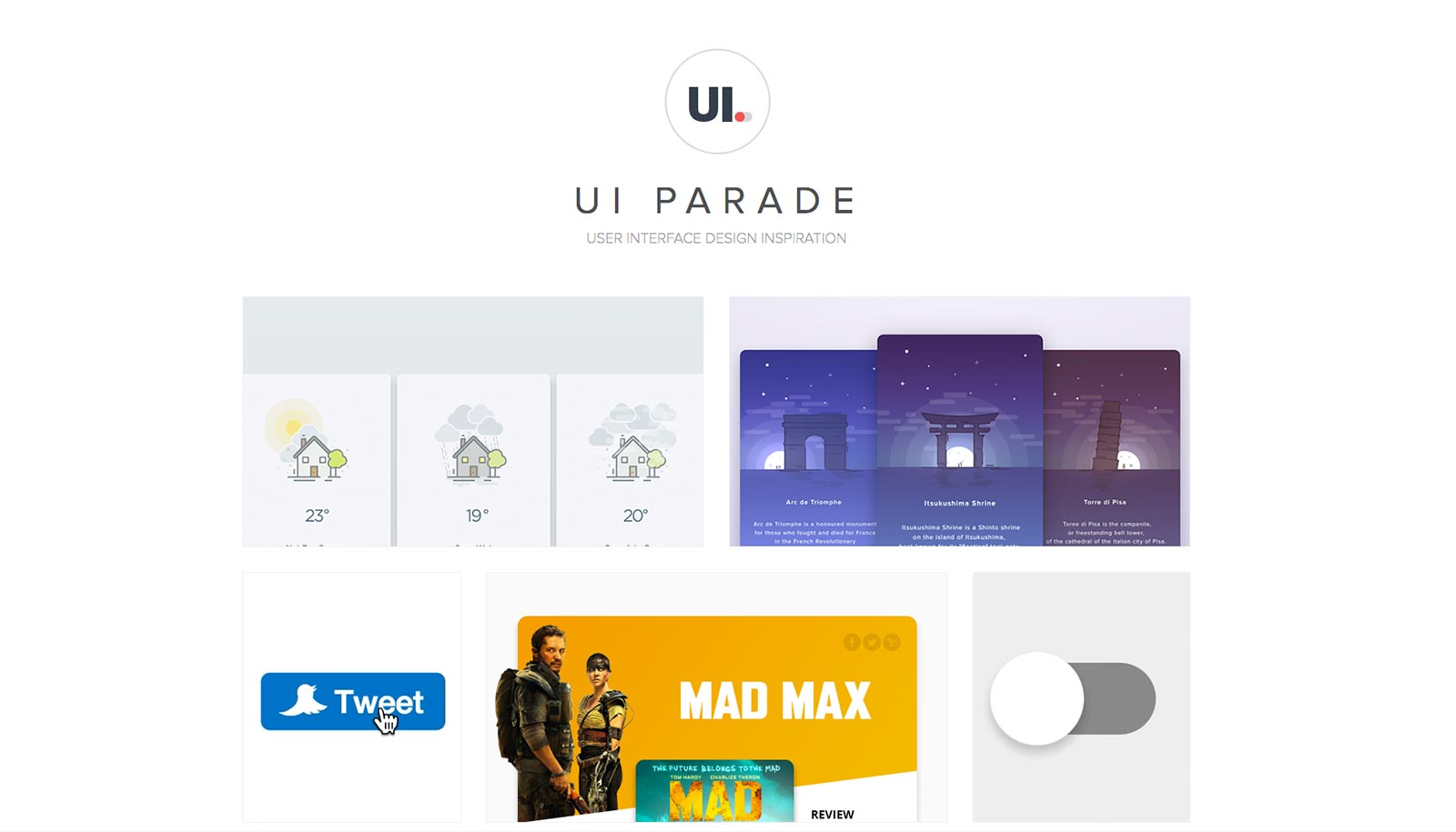 ui parade UI inspiration