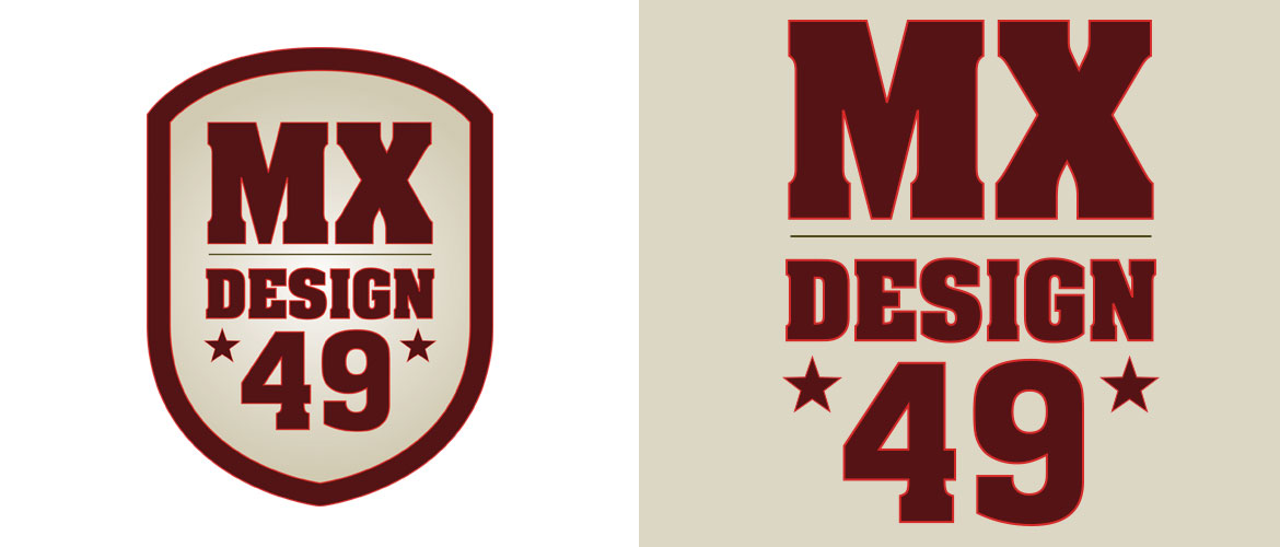 logo design french company mx design 49